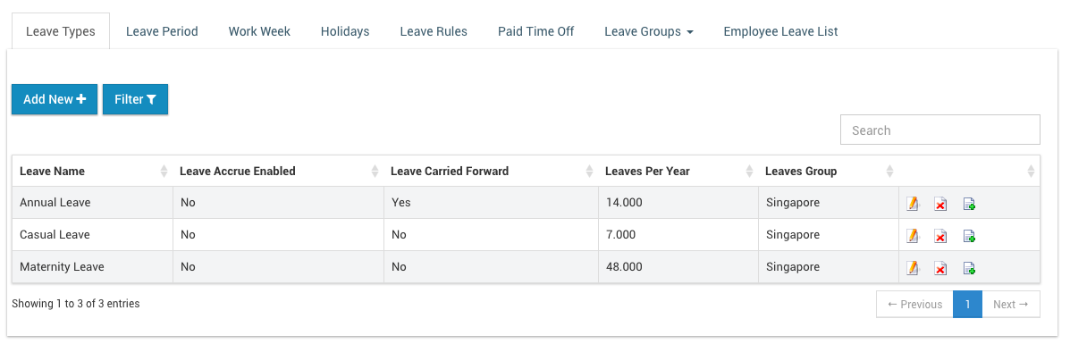Company Leave Policy · IceHrm Guide
